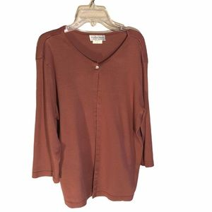 Motherwear rosy one button l/s cardigan